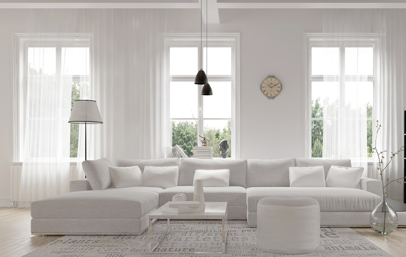 vinyl replacement windows in living room