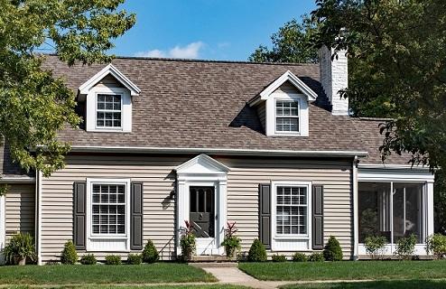 Gray Cape Cod House