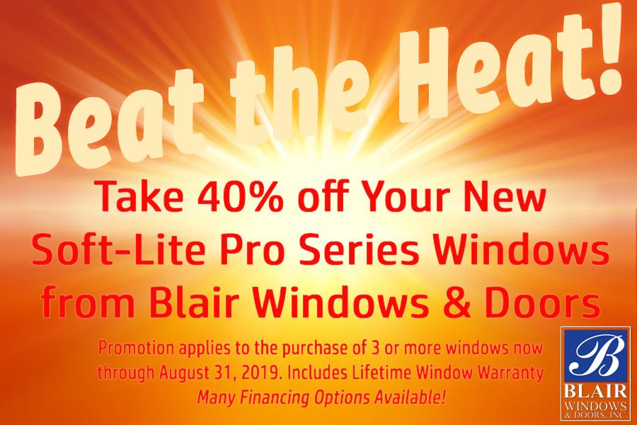 Softlite promotion Blair window sale