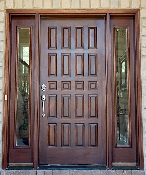 wood entry door